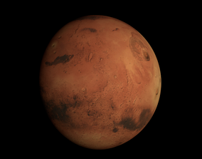 3D model Texture of the planet Mars