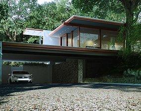3D Garage In A Villa House