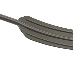 A real paddle blade for a rowing boat for 3d print