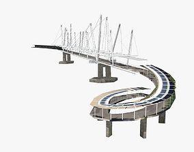3D model game-ready Kurilpa Bridge