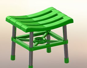 3D print model Plastic footstool