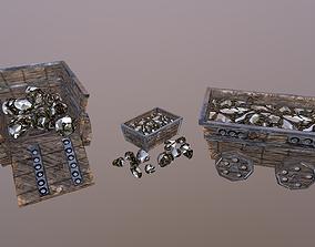 Gold Mine Cart 3D asset