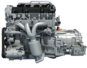 3D model Nissan Altima Hybrid Engine