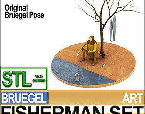 Bruegel Fisherman Scene Stl Printable 3D model