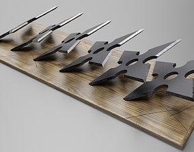 shurikens 3D asset