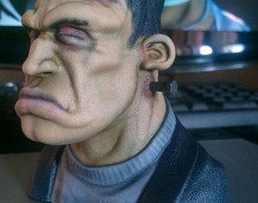 3D print model Frankie Figurine Bust Hollow 9cm