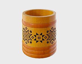 Wood pail 3D model