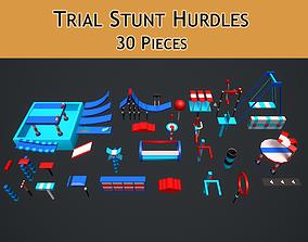 Trial Stunts Hurdles Pack 3D asset