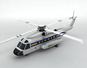 Sikorsky S92 Helicopter -2 3D model