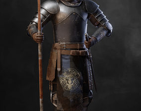 On guard foot soldier 3D model