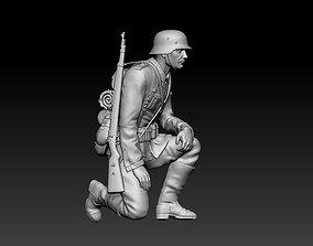 war German soldier 3D printable model
