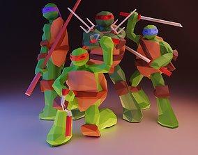 3D Ninja Turtles Low Poly Pack