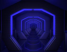 Sci Fi Corridor 3D model VR / AR ready lab