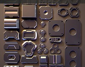 Hard Surface Kitbash 03 - Subdiv-Ready 3D