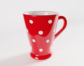 Polka Dot Latte Mug dish 3D model