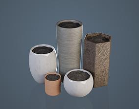 Plant Pots 3D model low-poly