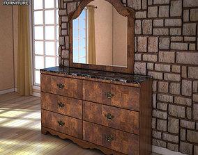 Ashley Buckingham Dresser Mirror 3D asset