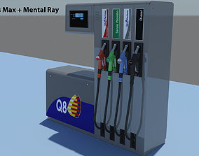 gasoline 3D model Fuel Dispenser