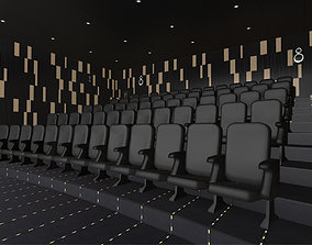 3D asset Modern Cinema Hall 06