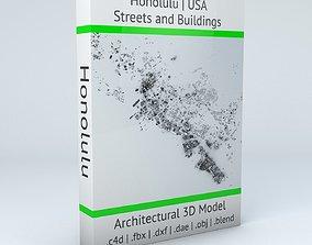 Honolulu Streets and Buildings 3D model