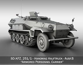 3D model SD KFZ 251 1 Ausf B - Hanomag