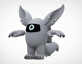 Among Us Silver Werewolf 3D asset