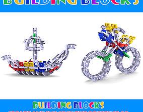 3D print model building blocks toy kids
