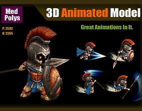 3D asset Spartan warrior
