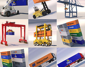 Harbour Machinery Collection 2 3D