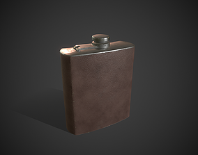 Alcohol Travel Bottle Container 3D asset