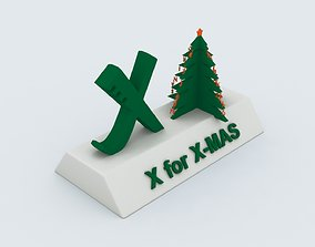 printable X for Xmas Model