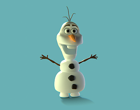 low-poly Olaf from Frozen 3D model