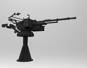 Modern russian Navy autocanon KPVT on MTPY 3D print model