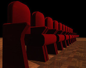 3D model Theatre velvet armchairs