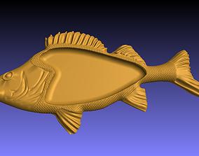 3D printable model fish tray 3