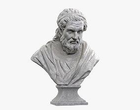 3D asset Greek Philosopher Marble Bust