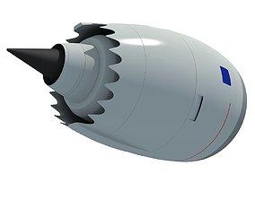 3D model Jet Turbofan Engine