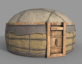 Old Mongolian Yurt House 3D asset