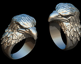 3D print model art Eagle ring