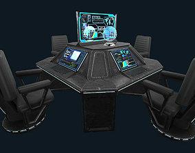 3D model realtime Sci-Fi Communications Center