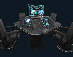 Sci-fi Communications Center 3D asset