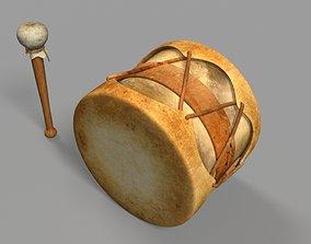 Old Drum indian 3D