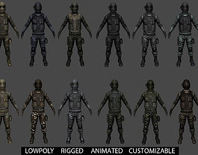 3D asset Customizable Soldier