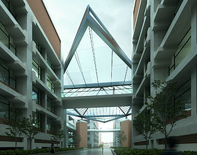 3D Modern Connected Buildings