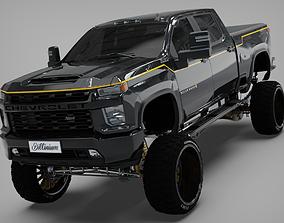 3D model Silverado 2021 Carhartt edition Cencal truck