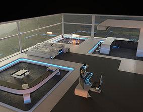 3D model Futuristic Interior bar