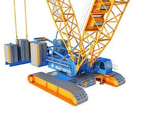 Sarens SL 3800 crane truck 3D model