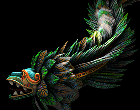Quetzalcoatl God 3D model