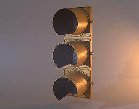 3D model VR / AR ready Traffic Light