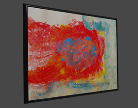 Painting with Frame 3D model